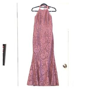 Lulus S Mauve black tie or bridesmaid dress